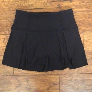 Black Lulu lemon tennis skirt
